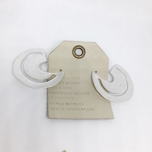 NWT Anthropologie silver statement earrings